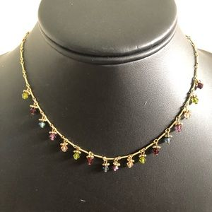 Jewelry - Choker - necklace with different colored stones